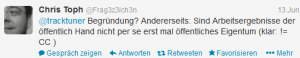 CC Twitter-Anfrage